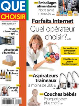Que Choisir Mensuel  N° 496 - octobre 2011