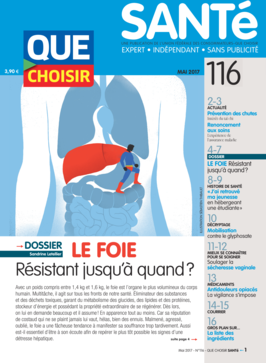 Que Choisir Santé  N° 116 - mai 2017