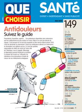 Que Choisir Santé  N° 149 - mai 2020