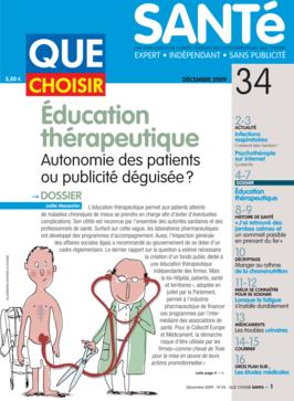 Que Choisir Santé  N° 34 - décembre 2009