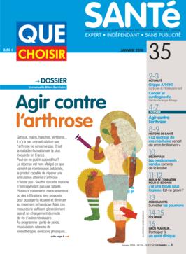 Que Choisir Santé  N° 35 - janvier 2010
