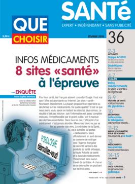 Que Choisir Santé  N° 36 - février 2010