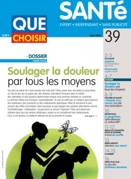 Que Choisir Santé  N° 39 - mai 2010