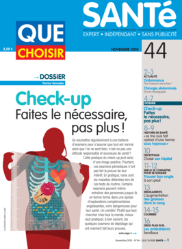 Que Choisir Santé  N° 44 - novembre 2010