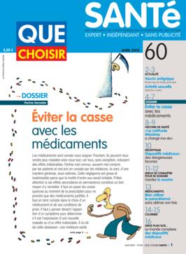 Que Choisir Santé  N° 60 - avril 2012