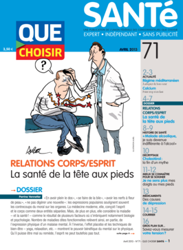 Que Choisir Santé  N° 71 - avril 2013