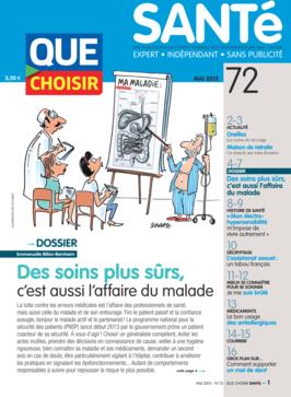 Que Choisir Santé  N° 72 - mai 2013