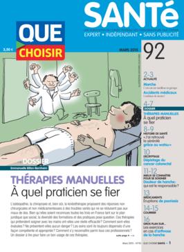 Que Choisir Santé  N° 92 - mars 2015